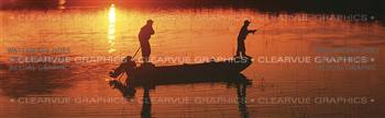 Sunset Dream Fishing Rear Window Graphic