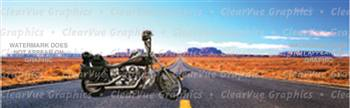 Bikers Heaven Motorcycle Rear Window Graphic