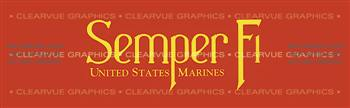 Semper Fi Military Rear Window Graphic