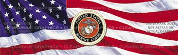 U.S. Marines 2 Military Rear Window Graphic