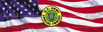 Army Special Forces 2 Military Rear Window Graphic