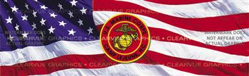 USMC Camp Lejeune Military Rear Window Graphic