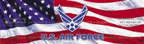 U.S. Air Force Logo Military Rear Window Graphic