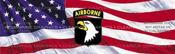 101st Airborne Military Rear Window Graphic