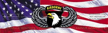 101st Airborne Wings Military Rear Window Graphic