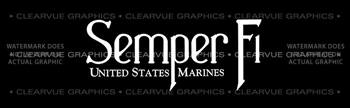 Semper Fi 2 Military Rear Window Graphic