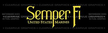 Semper Fi 3 Military Rear Window Graphic