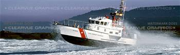 Coast Guard Lifeboat Military Rear Window Graphic