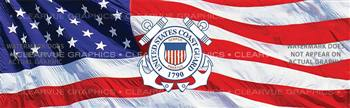 U.S. Coast Guard 2 Military Rear Window Graphic