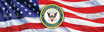 Naval Reserve Military Rear Window Graphic