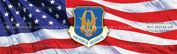 Air Force Reserve Military Rear Window Graphic