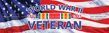 World War II Veteran Military Rear Window Graphic