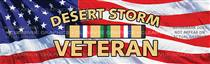Desert Storm Veteran Military Rear Window Graphic
