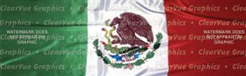 Mexican Flag Rear Window Graphic