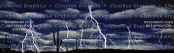 Lightning Storm Nature Rear Window Graphic