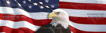 Flag 1 w/ Eagle Cent. Patriotic Rear Window Graphic