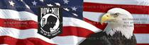 US Flag 1 with POWMIA Patriotic Rear Window Graphic