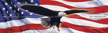 Eagle in Flight Flag Patriotic Rear Window Graphic