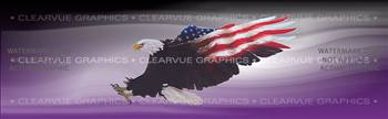 Wings of Freedom Purple Patriotic Rear Window Graphic
