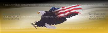 Wings of Freedom Yellow Patriotic Rear Window Graphic