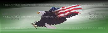 Wings of Freedom Green Patriotic Rear Window Graphic