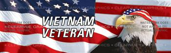 Vietnam Veteran Patriotic Rear Window Graphic