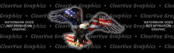 Wings of Freedom Patriotic Rear Window Graphic