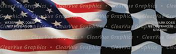 American Racing Patriotic Rear Window Graphic