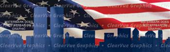 America Remembers Patriotic Rear Window Graphic