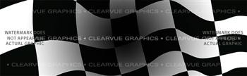 Checkered Flag with Dark Center Racing Rear Window Graphic