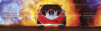 Fire Ball Racing Rear Window Graphic