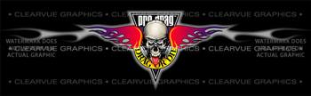 Pro Drag - Drag or Die Racing Rear Window Graphic