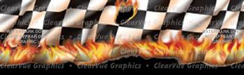 Hot Checks Racing Rear Window Graphic