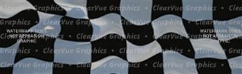 Checkered Flag Racing Rear Window Graphic