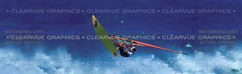 Sailboard Flying High Surf & Snow Rear Window Graphic