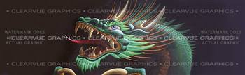 Dragon Head Tattoo Rear Window Graphic