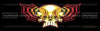 Skull Wing Tattoo Rear Window Graphic