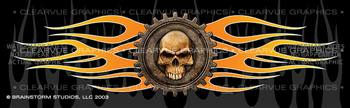 Gear Skull Tattoo Rear Window Graphic