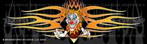Psycho Clown Tattoo Rear Window Graphic
