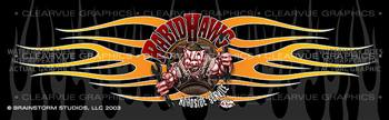 Rabid Hawg Tattoo Rear Window Graphic