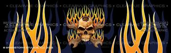 Skull & Wrenches Tattoo Rear Window Graphic