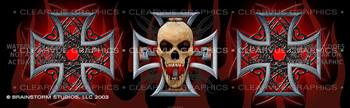 Pistons Skull Tattoo Rear Window Graphic