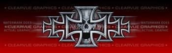 Iron Cross Red Tattoo Rear Window Graphic