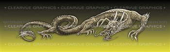 Dragon Tattoo Yellow Rear Window Graphic