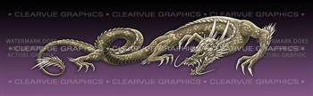 Dragon Tattoo Purple Rear Window Graphic
