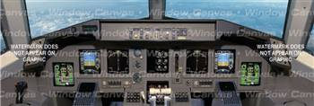 Flight Level 250 Aircraft Rear Window Graphic