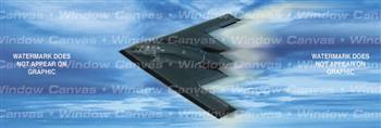 Black Triangle Aircraft Rear Window Graphic