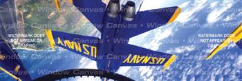 Inverted Aircraft Rear Window Graphic