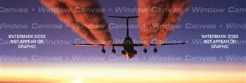 Contrails Aircraft Rear Window Graphic