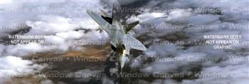 Left 30 Degrees Aircraft Rear Window Graphic